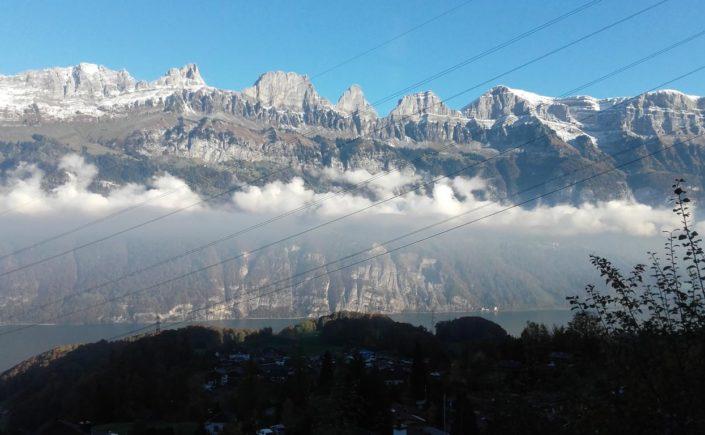 Churfirstenkette im Kanton St. Gallen in der Schweiz.